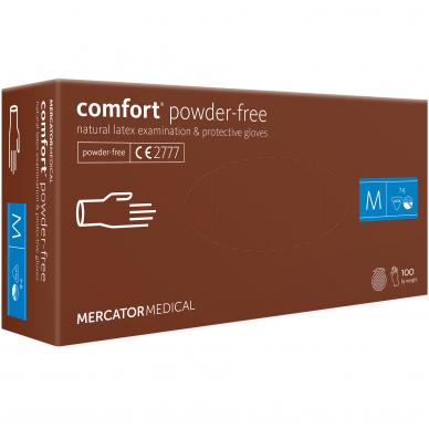 Pirštinės lateksinės be pudros Comfort PF, 100 vnt 2