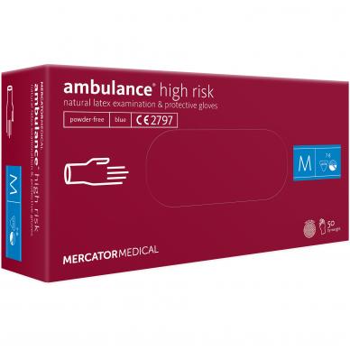 Pirštinės lateksinės storos Ambulance High Risk, 50 vnt 2