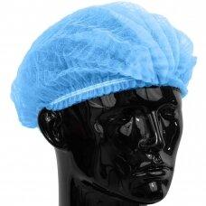 Vienkartinės kepuraitės gofruotos Clip, 100 vnt įvairių spavų