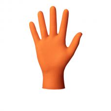 Vienkartinės nitrilinės pirštinės, prailgintos Ideal Grip+orange, 50vnt
