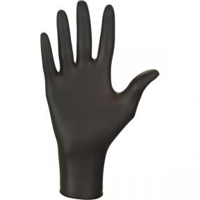 Перчатки нитриловые одноразовые черные, 100шт.