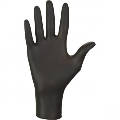 Vienkartinės nitrilinės pirštinės juodos, 100 vnt