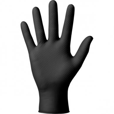 Vienkartinės nitrilinės pirštinės, prailgintos Ideal Grip+black, 50vnt